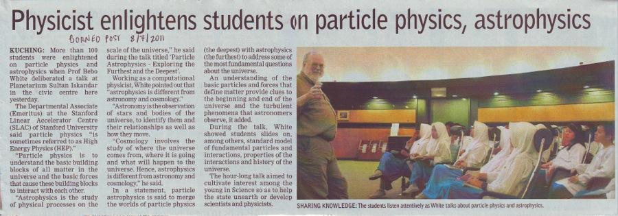 Physicist enlightens students on particle physics, astrophysics